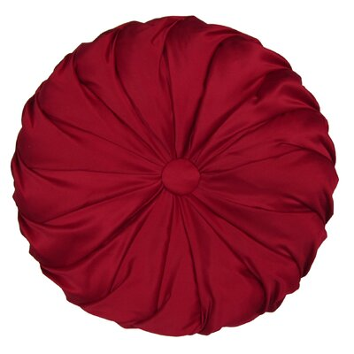 Patrick Round Throw Pillow Color: Red