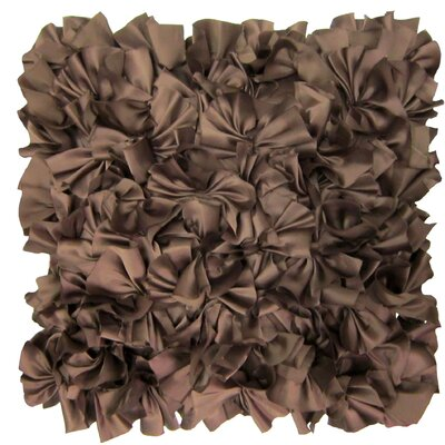Joffe Throw Pillow Color: Brown