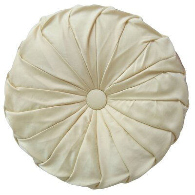 Patrick Round Throw Pillow Color: Ivory