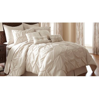 MacLaine 24 Piece Comforter Set Size: King, Color: Sand