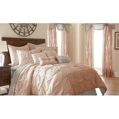 MacLaine 24 Piece Comforter Set Size: King, Color: Blush