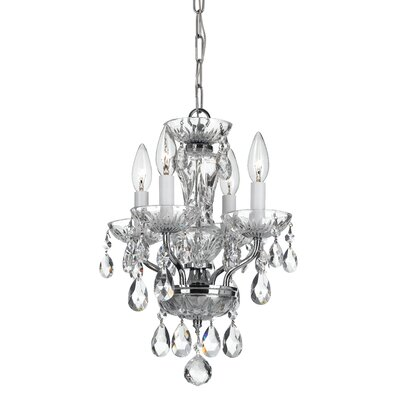 Malpaso 4-Light Crystal Chandelier Finish: Chrome