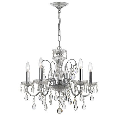 Bening 5-Light Crystal Chandelier Finish: Polished Chrome