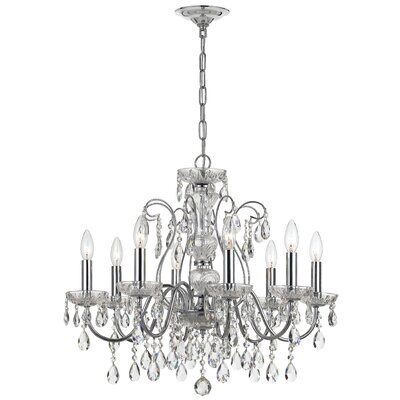 Benjamin 8-Light Crystal Chandelier Finish: Polished Chrome