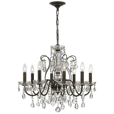 Benjamin 8-Light Crystal Chandelier Finish: English Bronze