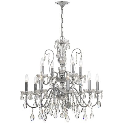 Bergman 12-Light Crystal Chandelier Finish: Polished Chrome
