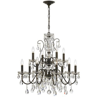 Bergman 12-Light Crystal Chandelier Finish: English Bronze