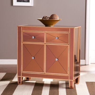 Carell Mirrored Accent Cabinet Color: Bronze
