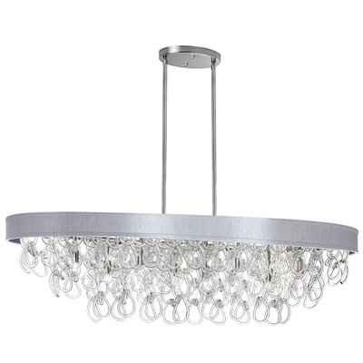 8-Light Kitchen Island Pendant Shade Color: Silver