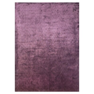 Moretz Hand Woven Plum Area Rug Rug Size: Rectangle 79 x 99