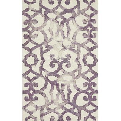 Alioth Violet/White Rug Rug Size: Rectangle 96 x 136
