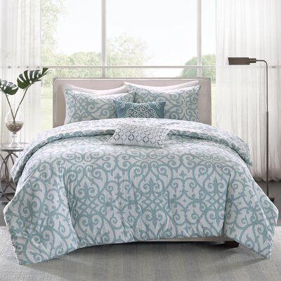 Sanger 5 Piece Duvet Cover Set Size: Full / Queen