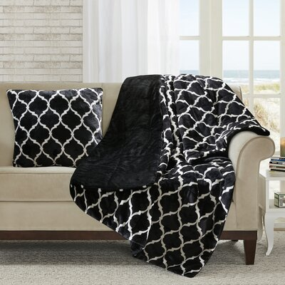Rosalie Oversized Down Alternative Throw Color: Black
