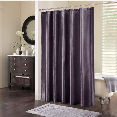Zola Shower Curtain Color: Plum