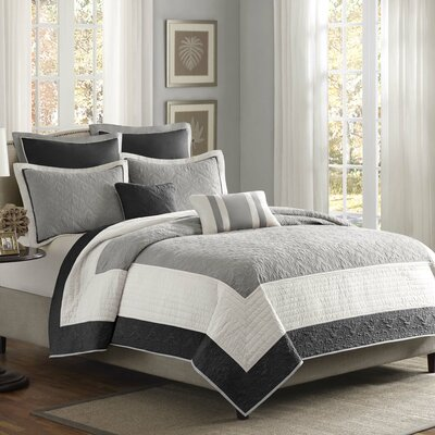 Everly 7 Piece Coverlet Set Size: King / California King