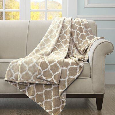 Flannagan Oversized Throw Blanket Color: Tan