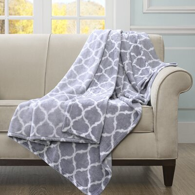 Flannagan Oversized Throw Blanket Color: Gray