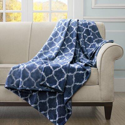 Rosalie Oversized Throw Blanket Color: Blue