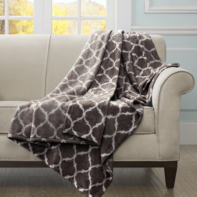 Flannagan Oversized Throw Blanket Color: Brown