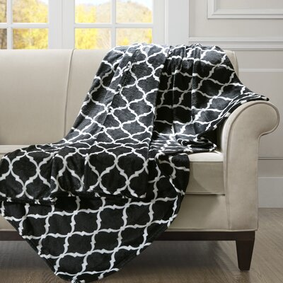 Flannagan Oversized Throw Blanket Color: Black/White