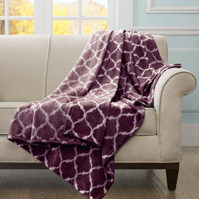 Flannagan Oversized Throw Blanket Color: Purple