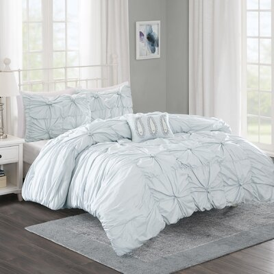 Ava 4 Piece Comforter Set Size: King/California King