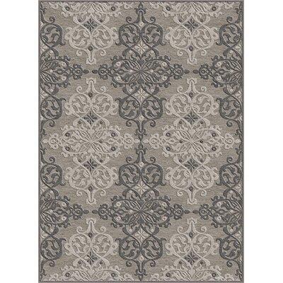 Hawkins Gray Area Rug Rug Size: 52 x 73