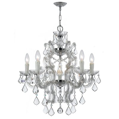Griffiths 6-Light Crystal Chandelier Finish: Polished Chrome, Crystal Grade: Standard