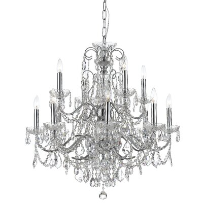 Axton 12 Light Crystal Chandelier