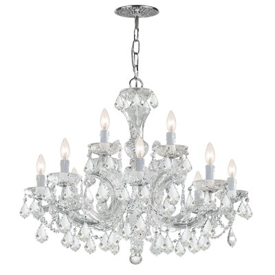 Griffiths 12-Light Crystal Chandelier Finish: Polished Chrome