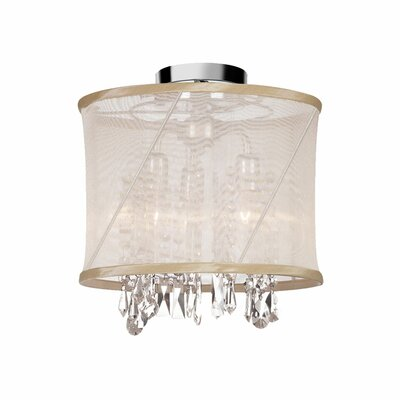 Hackford 3-Light Semi Flush Mount Shade Color: Oyster