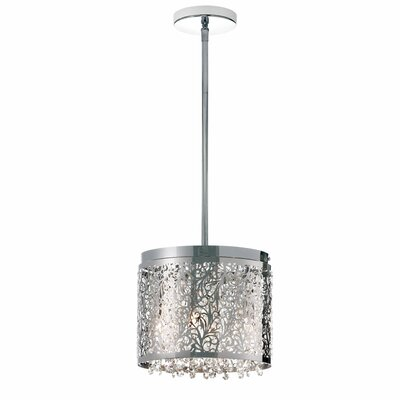 Fauna 4-Light Drum Pendant Finish: Polished Chrome