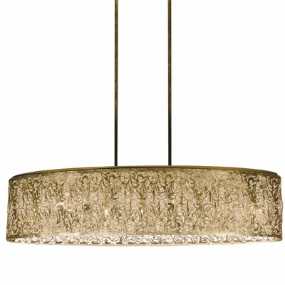 Fauna 7-Light Kitchen Island Pendant Finish: Palladium Gold