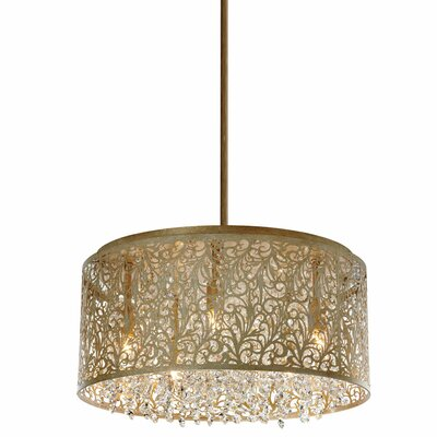 Fauna 8-Light Drum Chandelier Finish: Palladium Gold