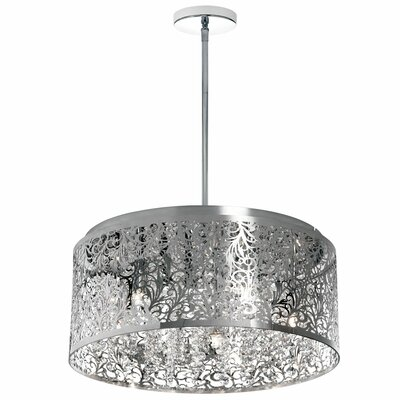 Fauna 8-Light Drum Chandelier Finish: Polished Chrome