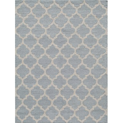 Frank Hand-Hooked Gray Area Rug Rug Size: Rectangle 2 x 3