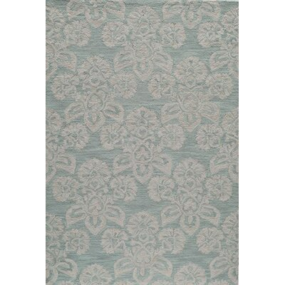 Anne Hand-Hooked Blue Area Rug Rug Size: 2' x 3'