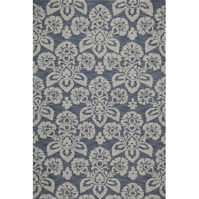 Anne Hand-Hooked Navy Area Rug Rug Size: 2' x 3'