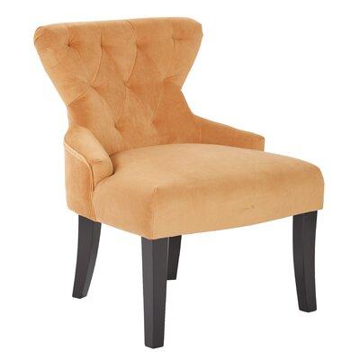 Elvie Upholstered Side Chair Upholstery: Butternut Velvet