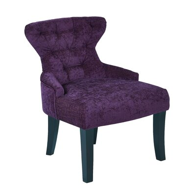 Elvie Upholstered Side Chair Upholstery: Walker Grape Velvet
