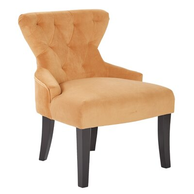 Feldman Upholstered Slipper Chair Upholstery: Butternut Velvet