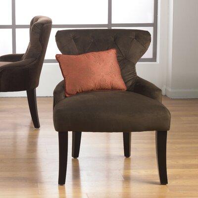 Feldman Upholstered Slipper Chair Upholstery: Chocolate Velvet