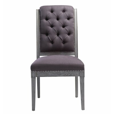 Burdinne Side Chair Finish: Gray