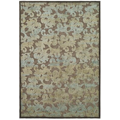 Berloz Dark Brown/Blue Rug Rug Size: Rectangle 53 x 76