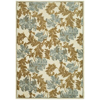 Berloz Dark Light Creme Rug Rug Size: Rectangle 53 x 76