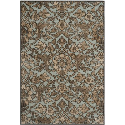 Berloz Soft Anthracite / Anthracite Floral Plant Area Rug Rug Size: Rectangle 33 x 57