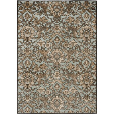 Berloz Soft Anthracite / Anthracite Floral Plant Area Rug Rug Size: Rectangle 8 x 112