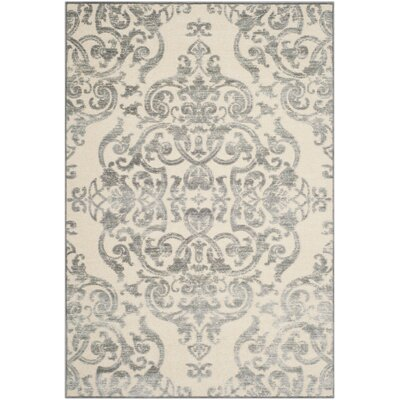 Maspeth Grey/Multi Contemporary Area Rug Rug Size: 53 x 76