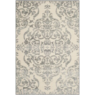 Maspeth Grey/Multi Contemporary Area Rug Rug Size: 76 x 106