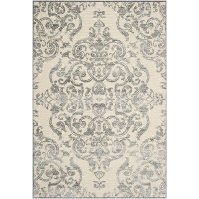 Maspeth Grey/Multi Contemporary Area Rug Rug Size: 33 x 47